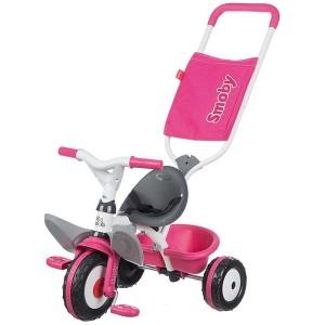 Металлический велосипед Smoby с багажником и козырьком Розовый (444207)