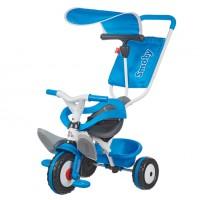 Металлический велосипед Smoby с багажником и козырьком Синий (444208)