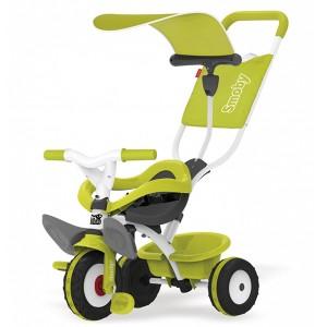 Металлический велосипед Smoby с багажником и козырьком Зеленый (444192)