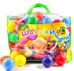 Шарики  для сухих бассейнов,  в сумке `60 мм 100 шт` (01160)