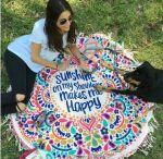 Подарок Пляжный коврик 'Happy'