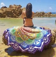 Подарок Подстилка пляжная 'Мандала фиолетовый'