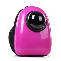Рюкзак-переноска для животных CosmoPet с иллюминатором, малиновый