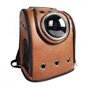 Рюкзак-переноска для животных CosmoPet 'Шаттл', коричневый