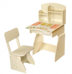 Детская Парта растущая + стульчик 'Финекс Плюс' Белая (114)