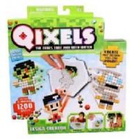 Игровой набор аквамозаики из пикселей Qixels 'Дизайнер (1200 фишек, спрей, шаблоны, аксессуары)' (87020)