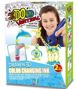 Набор для детского творчества IDO3D с 3D-маркером 'Меняющий цвет (3D-маркер с блестками-2 шт, аксессуары)' (166060)