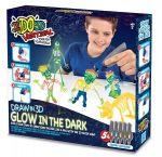 Набор для детского творчества IDO3D с 3D-маркером 'Светящиеся в темноте (3D-маркер-5 шт, аксессуары)' (166095)