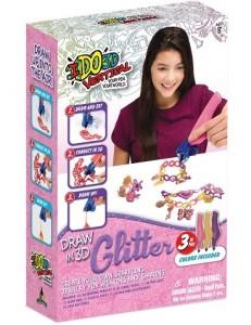 Набор для детского творчества IDO3D с 3D-маркером 'Ювелирные изделия (3D-маркер с блестками-3 шт,аксессесуары)' (166072-2)