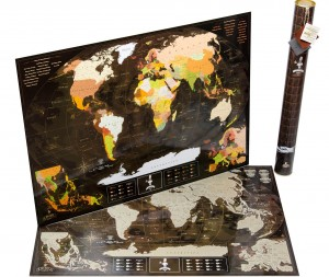 Подарок Скретч карта мира My Map 'Chocolate edition ENG' в тубусе