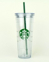 Подарок Тамблер Starbucks 0111050499 'Cold-to-Go' Clear, 710 мл