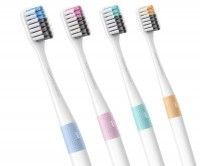 Подарок Набор зубных щеток Xiaomi DOCTOR·B Colors 4 шт (Bass method)