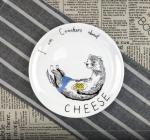 Тарелка 'Любитель сырных крекеров' (217)