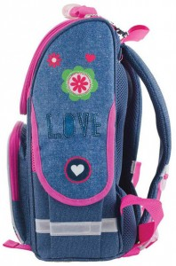 фото Рюкзак каркасный Smart 'Jeans butterfly' PG-11, розовый, синий (553343) #4