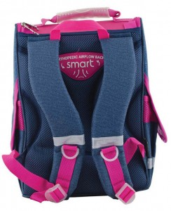 фото Рюкзак каркасный Smart 'Jeans butterfly' PG-11, розовый, синий (553343) #5