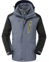 Трекинговая куртка NatureHike 3 в 1 'Stone Grey L' (NH16F001-M)