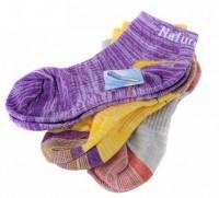 Носки спортивные женские NatureHike '3 пары Pink/Yellow/Green Multisize' (NH12W008-W)