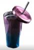 Подарок Стакан Starbucks с крышкой и трубочкой, 500 мл, фиолетово-синий