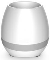 Подарок Bluetooth колонка-ночник 'Цветочный горшок', белая