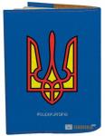 Подарок Обложка на паспорт 'Герб Супермен' (Эко-Кожа)