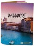 Подарок Обложка на паспорт 'Город на воде' (Эко-Кожа)