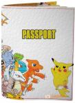 Подарок Обложка на паспорт 'Пикачу и команда' (Эко-Кожа)