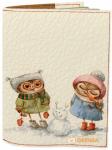 Подарок Обложка на паспорт 'Вкусный нос снеговика' (Эко-Кожа)