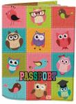 Подарок Обложка на паспорт 'Совушки Необычные' (Эко-Кожа)