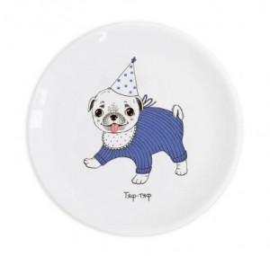 Подарок Детская тарелка 'Мопсик'