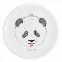 Подарок Детская тарелка 'Панда кусь-кусь'