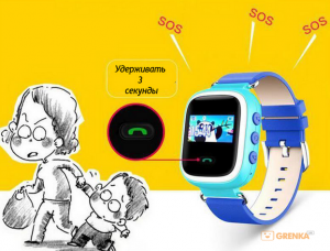 фото Детские умные часы с GPS трекером GW900 (Q60) Yellow #6