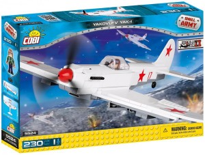 Конструктор COBI 'Вторая Мировая Война Самолет ЯК-1М, 220 деталей' (COBI-5524)