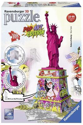 Купить Пазл 3D Ravensburger 'Статуя Свободы в стиле поп-арт 108 элементов' ( RSV-125975)