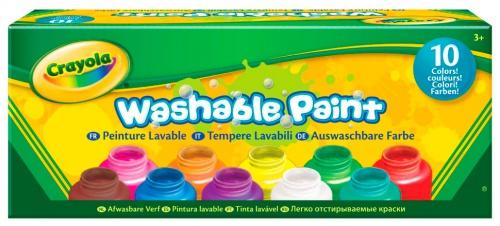 Купить Краски для малышей, 10 цветов Crayola (54-1205)