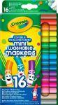16 легко смываемых мини фломастеров на водной основе Crayola (58-5055)