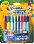 Жидкий клей с блестками 16 цветов Crayola (69-4200)