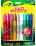 Жидкий клей с блестками 9 цветов Crayola (69-3527)
