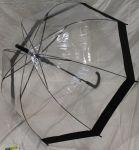 Зонт-трость Paolo Rosi  грибком прозрачный (3462)