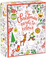 Книга 20 Christmas Cards to Colour