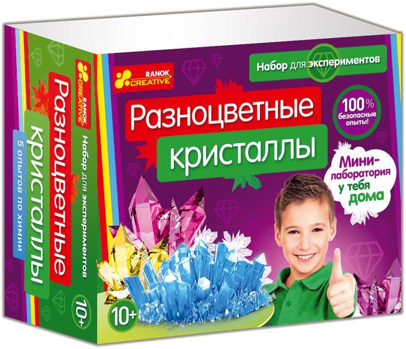 Купить Набор для экспериментов 'Разноцветные кристаллы', Ranok
