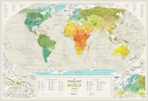 Подарок Скретч карта мира Travel Map 'Geography World' (англ)