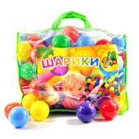 Шарики  для сухих бассейнов,  в сумке `80 мм 100 шт` (01159)