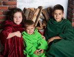 Плед с рукавами Homely Kids Luxury велсофт (H_KL_BLU_300_1)