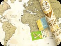 Подарок Скретч карта мира Discovery Map World Gold