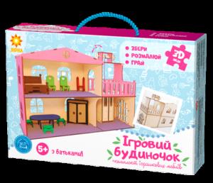 Дерев'яний ігровий будиночок-конструктор (90446)