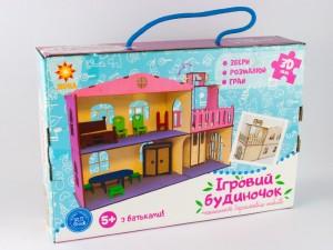 фото Дерев'яний ігровий будиночок-конструктор (90446) #10
