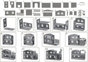 фото Дерев'яний ігровий будиночок-конструктор (90446) #8
