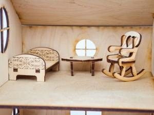 фото Дерев'яний ігровий будиночок-конструктор (90447) #5