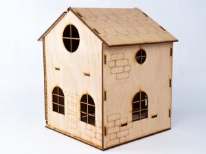 фото Дерев'яний ігровий будиночок-конструктор (90447) #6