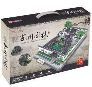 Трехмерная головоломка-конструктор CubicFun 'Классические китайские сады Сучжоу' (MC166h)